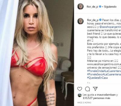 Flor Peña derritió las redes con un conjunto sexy: